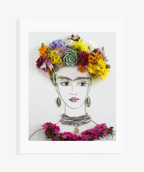 """Spring Frida"" Flower Face Print"