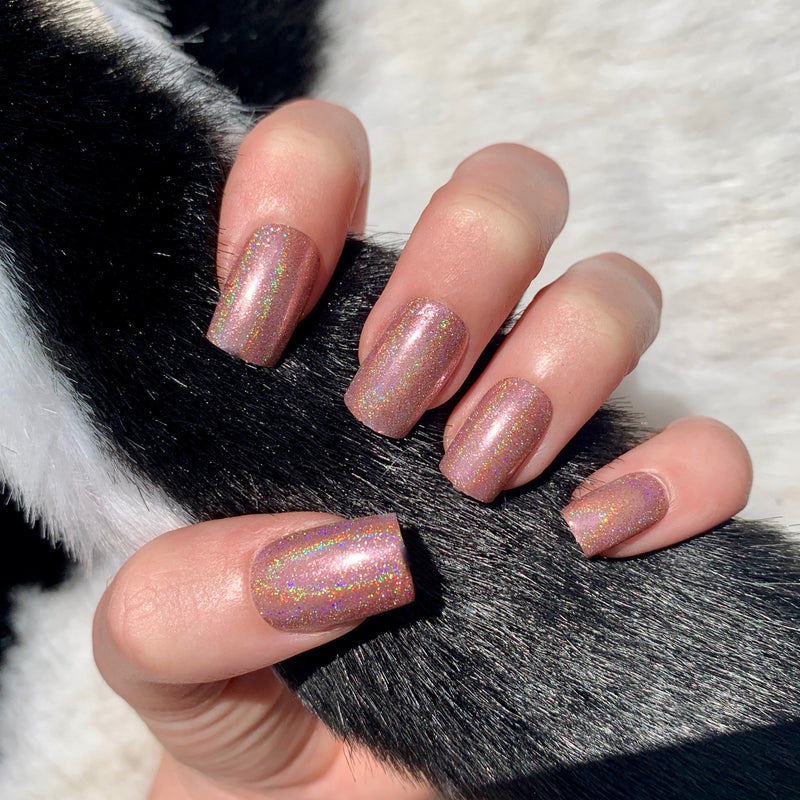Rose Gold Holographic
