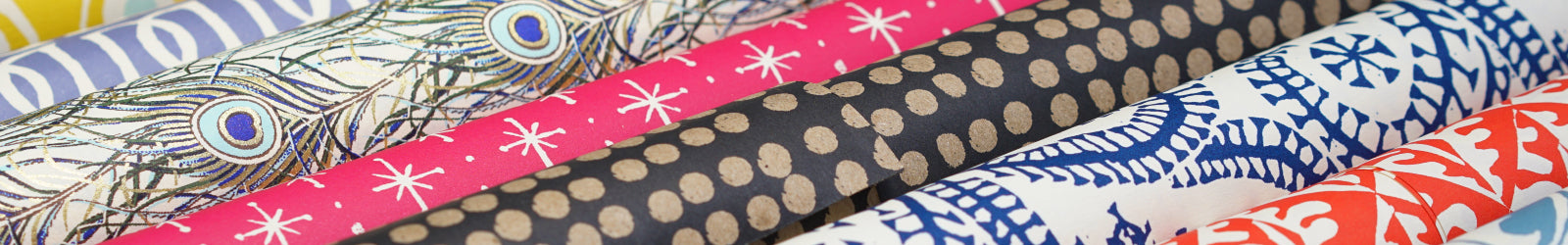 Decorative papers in a row