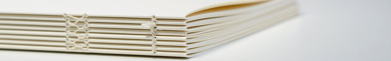 hand bound notebook without a cover