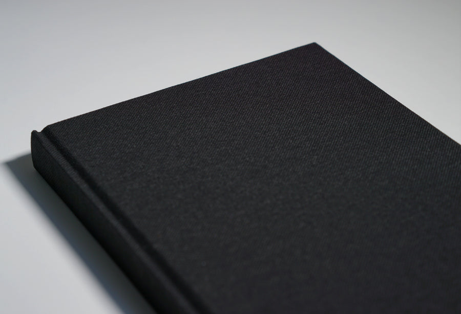 Black fabric notebook cover
