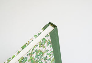 Green Florentine Notebook with Olive Green Spine