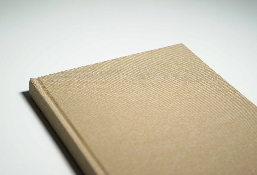 oatmeal linen fabric notebook cover