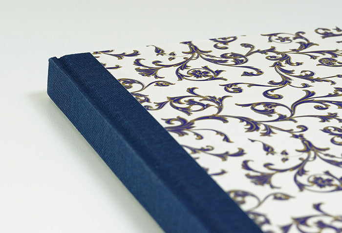 Midnight Blue and Gold Notebook with Navy Spine