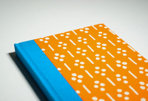 bright orange notebook cover
