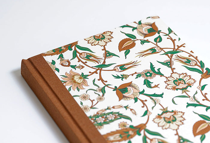 Russet, Peach and Green Notebook with Brown Spine
