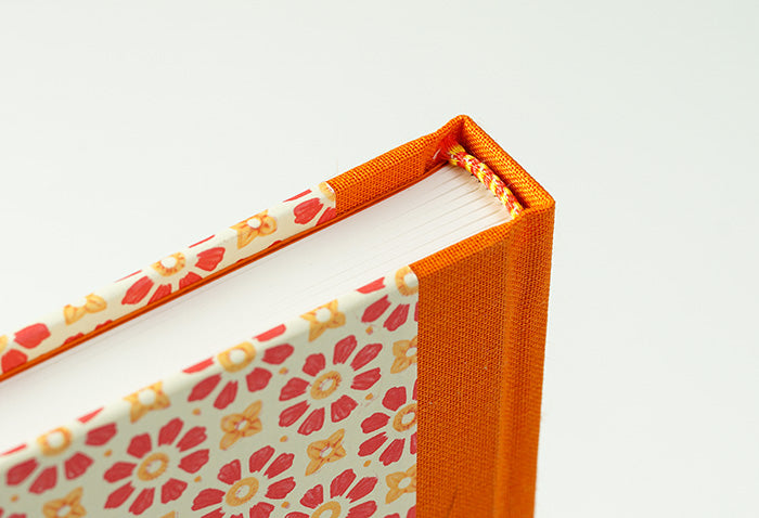 Italian Red and Orange Notebook with Orange Spine