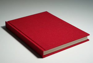Red Linen Fabric Notebook