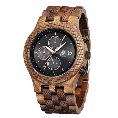 Multifunctional Watch-Walnut