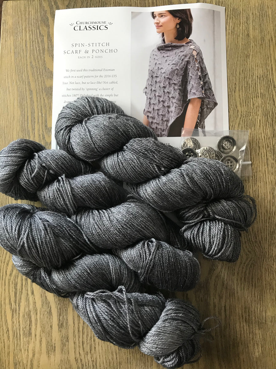 Spin stitch poncho kit - gunmetal
