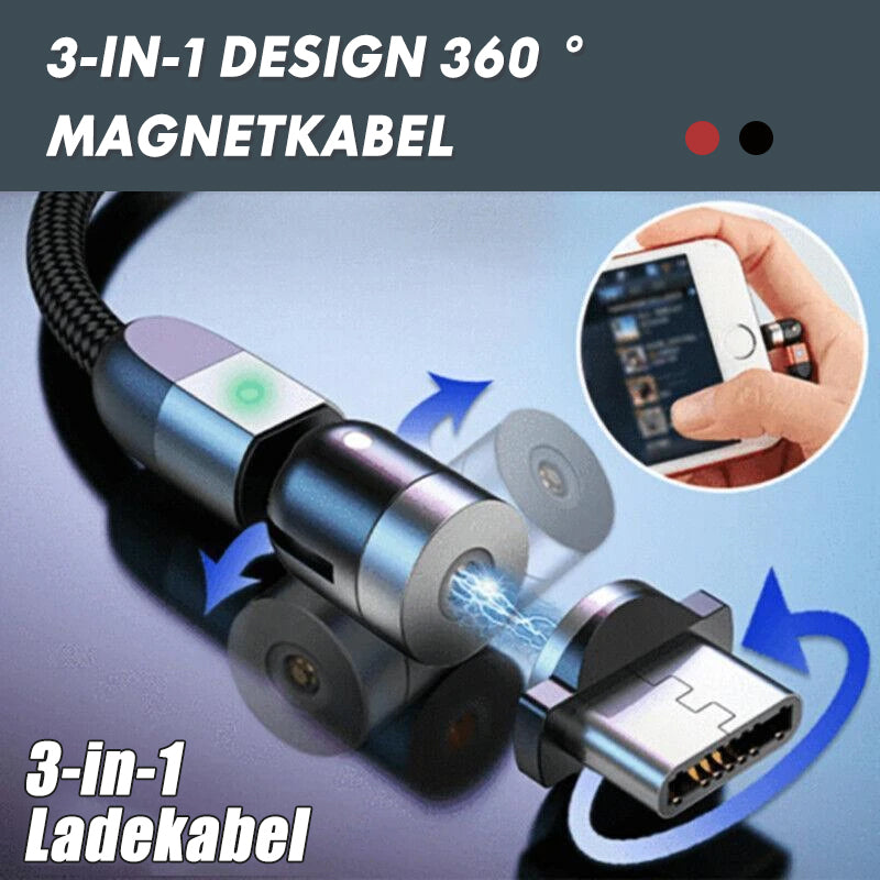 3-IN-1 DESIGN 360 ° Magnetkabel