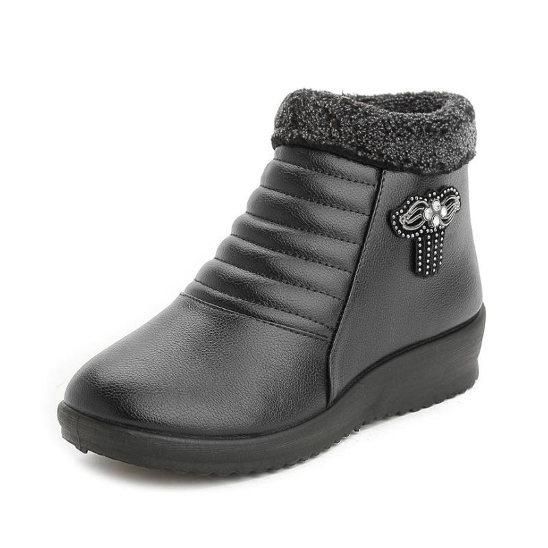 Damen Winter Lederschuhe