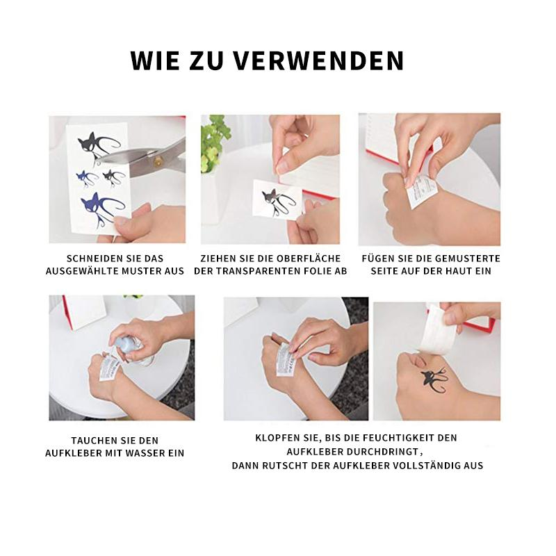 Wasserdichter Tattoo-Sticker