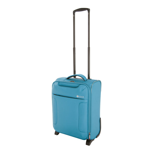 Tosca Teal 52CM Cabin Approved 2-Wheel Trolley Case