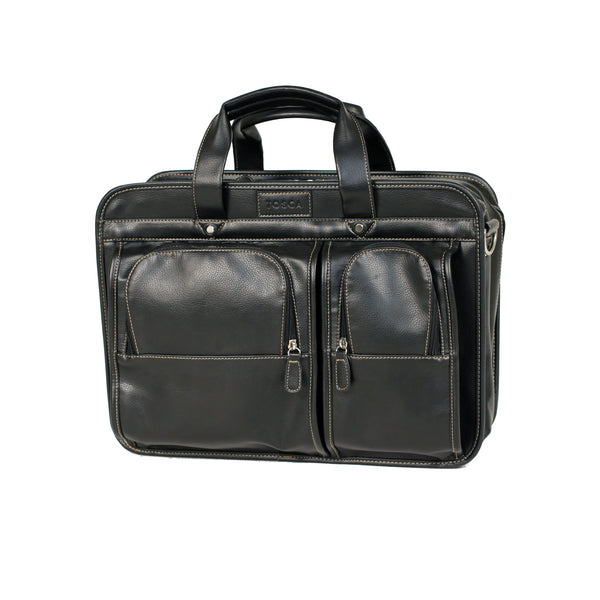 PVC Leather Look Business Satchel / Computer Bag