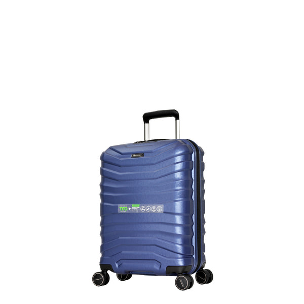 Eminent Blue 55cm Luxury Cabin-Approved 4-Wheel Trolley Case