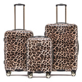 Tosca Leopard 55cm Cabin Approved 4-Wheel Trolley Case