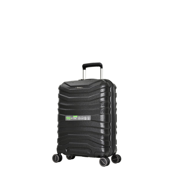 Eminent Black 55cm Luxury Cabin-Approved 4-Wheel Trolley Case