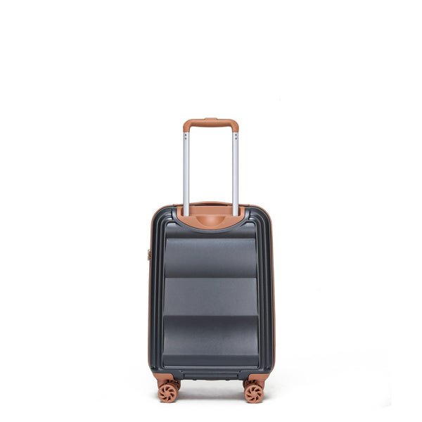 Tosca-Belmont Navy 54cm Cabin Approved Luxury Trolley Case