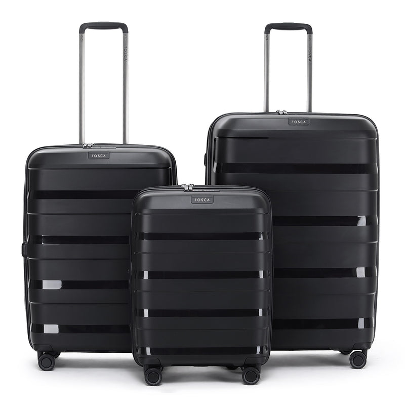 Tosca Comet Black 67cm 4-Wheel Trolley Case
