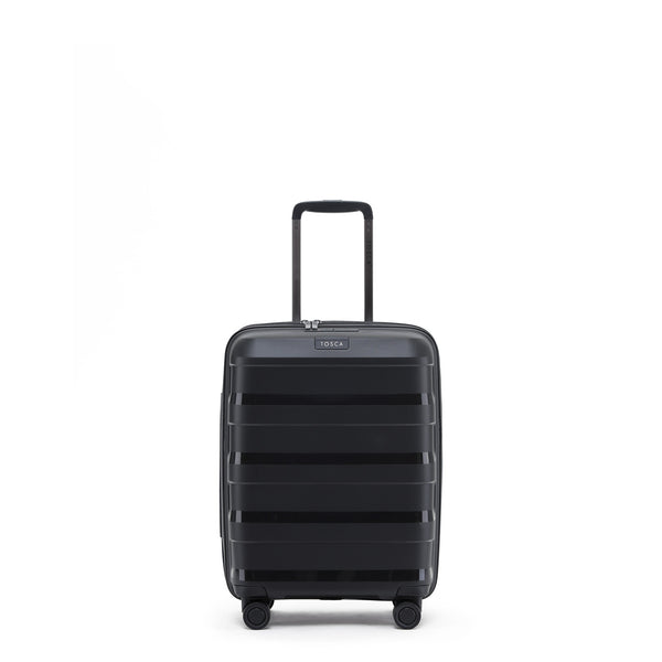 Tosca Comet Black 55cm Cabin Approved 4-Wheel Trolley Case