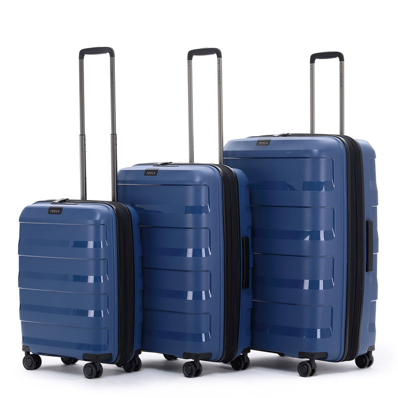TCA200B Tosca Comet Storm Blue 67cm 4-Wheel Trolley Case