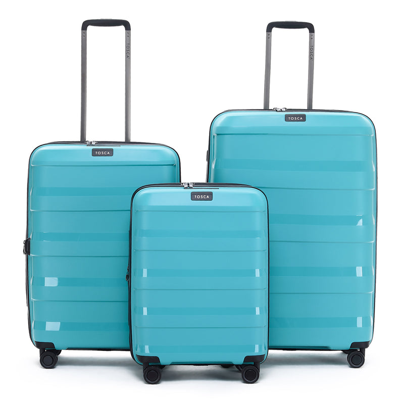 TCA200C Tosca Comet Teal 55cm Cabin Approved 4-Wheel Trolley Case