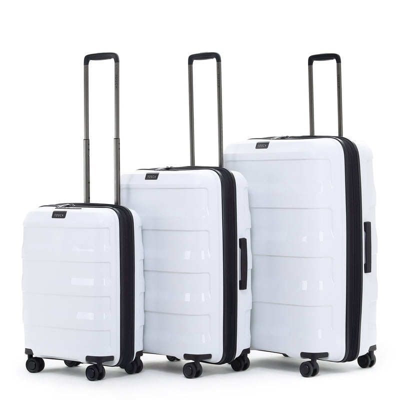 Tosca Comet White 78cm 4-Wheel Trolley Case