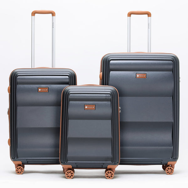 Tosca-Belmont Black Luggage Set