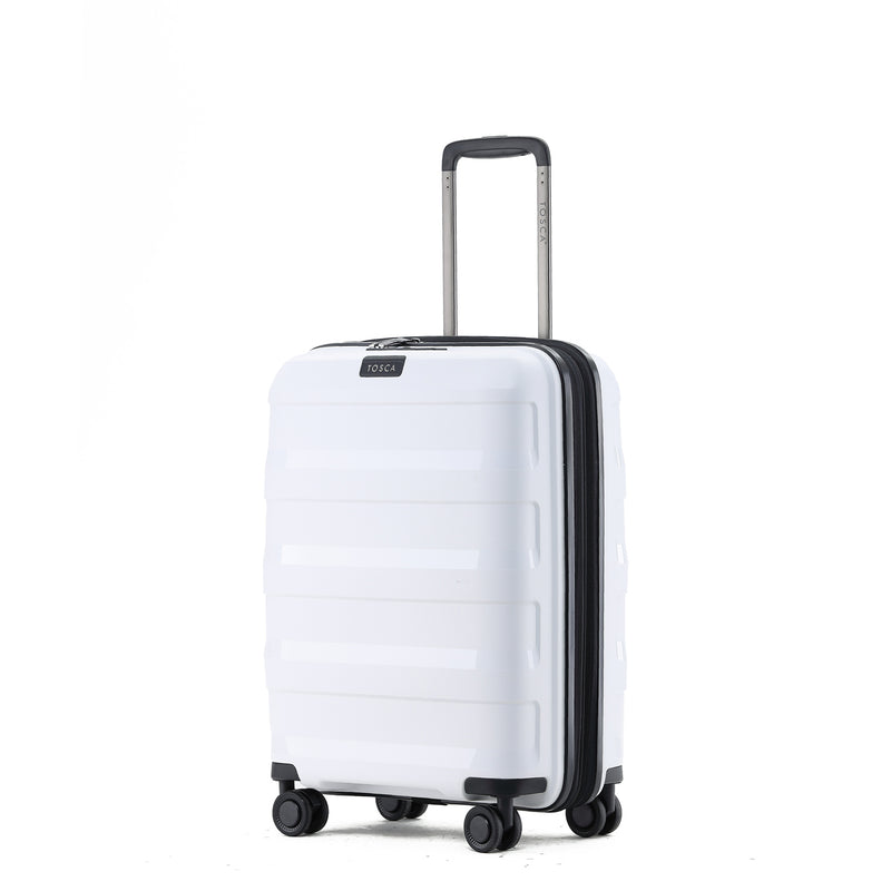 TCA200B Tosca Comet White 67cm 4-Wheel Trolley Case