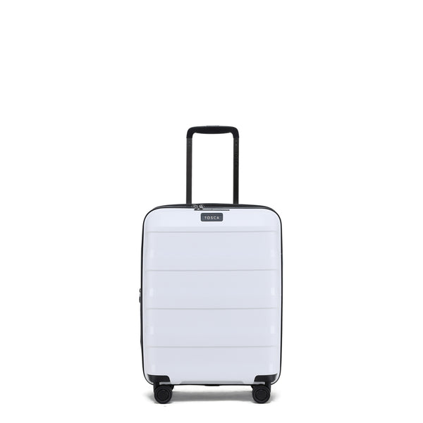Tosca Comet White 55cm Cabin Approved 4-Wheel Trolley Case