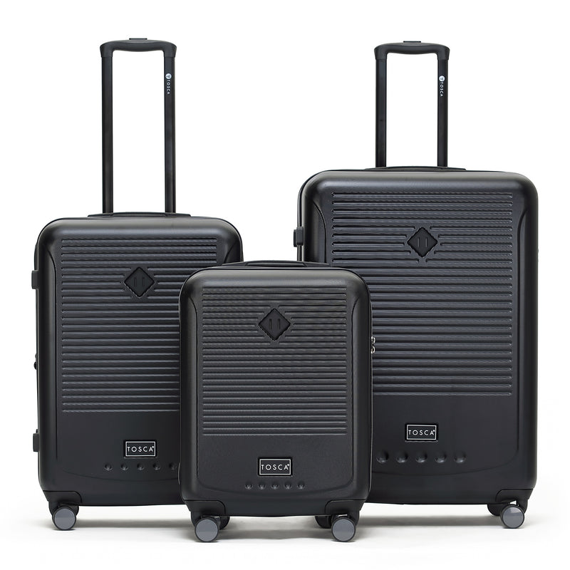 Tripster Black Luggage Set