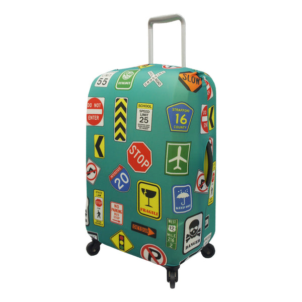Travel Signs Spandex Stretchy Luggage Cover
