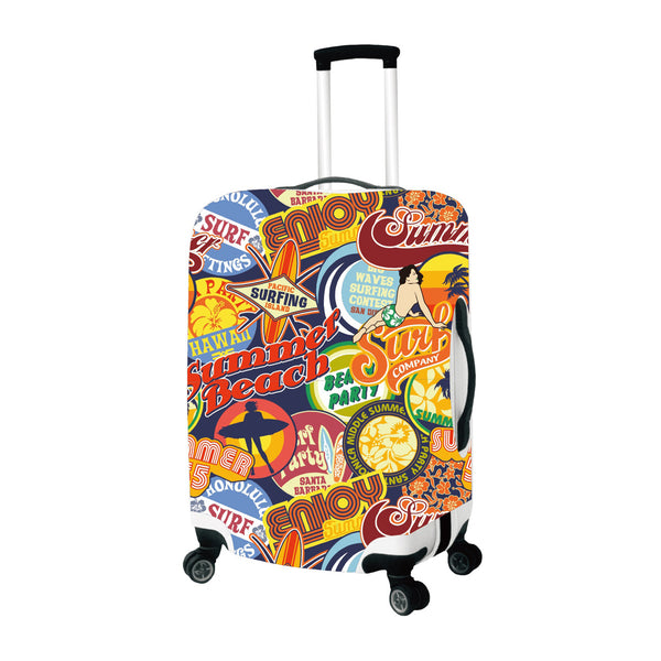 Summer Beach Spandex Stretchy Luggage Cover
