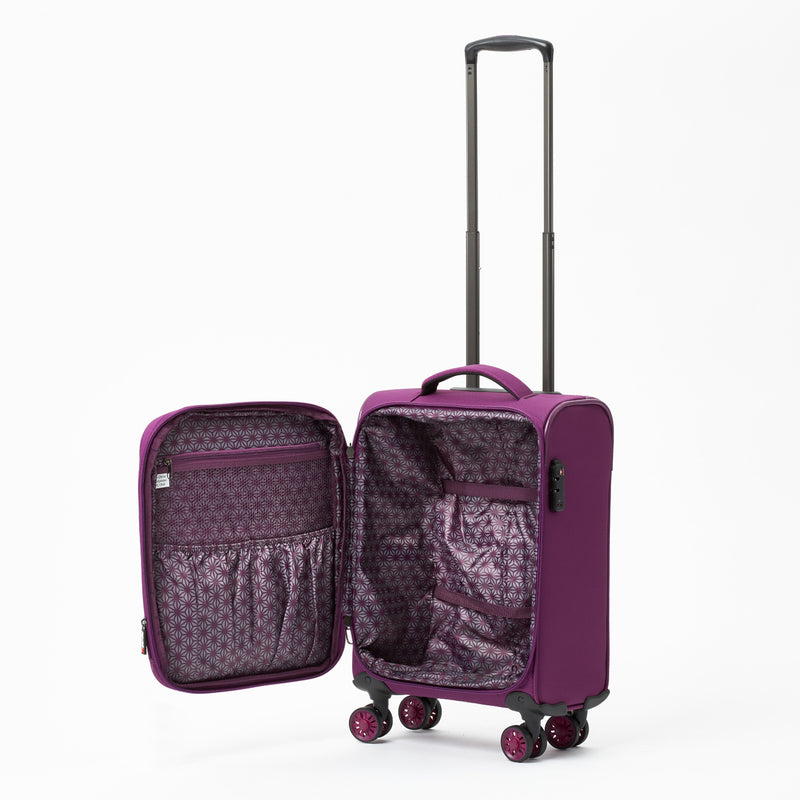 New Zealand Luggage Company So-Lite Plum 53cm 4-Wheel Trolley Case