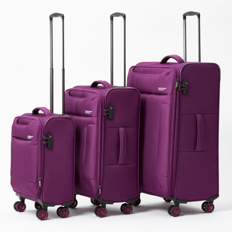AIR4044B New Zealand Luggage Company So-Lite Plum 68cm 4-Wheel Trolley Case