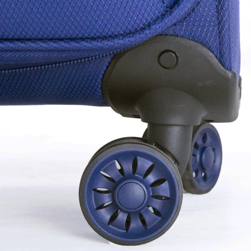 Tosca Navy 52CM Cabin Approved 4-Wheel Trolley Case