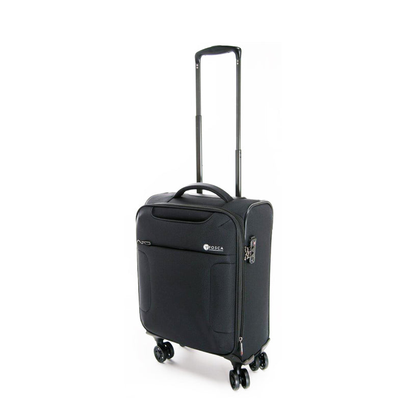 AIR4044C Tosca Black 52CM Cabin Approved 4-Wheel Trolley Case