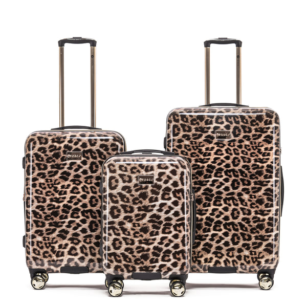Tosca Leopard Luggage Set