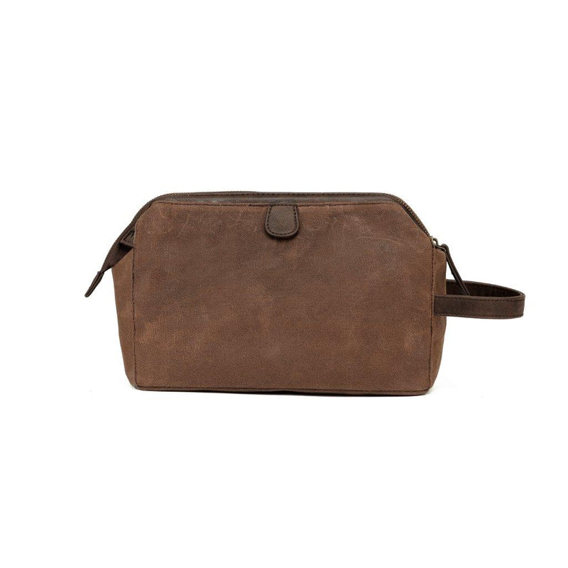 WC006 Waxed canvas wet pack toiletry bag