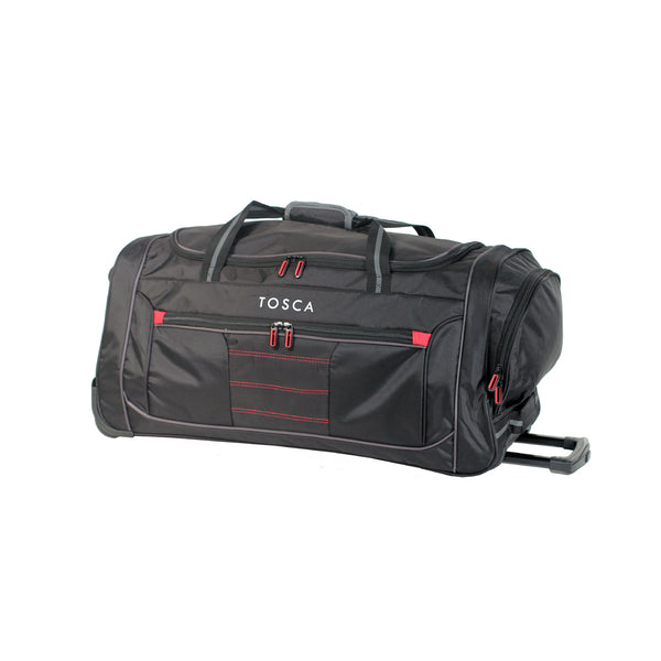 Medium Black Wheeled Sport Duffle Bag