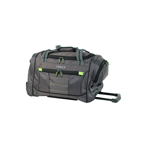 Small Grey Wheeled Sport Duffle Bag