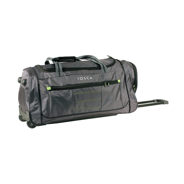 Medium Grey Wheeled Sport Duffle Bag