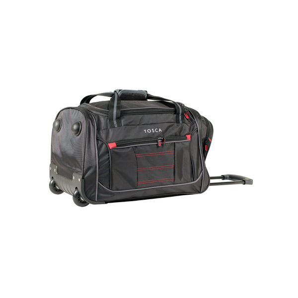 TCA794TWS Small Black Wheeled Sport Duffle Bag