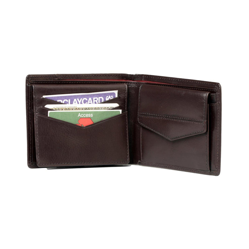 Kingston Mens Brown Basic Leather Billfold