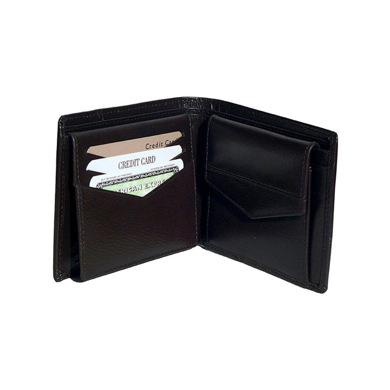 Kingston Mens Black Basic Leather Billfold