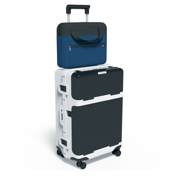 Barmes Slate-White First Edition 4-Wheel Trolley Case