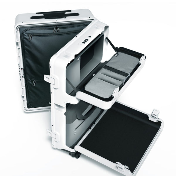Barmes White First Edition 4-Wheel Trolley Case