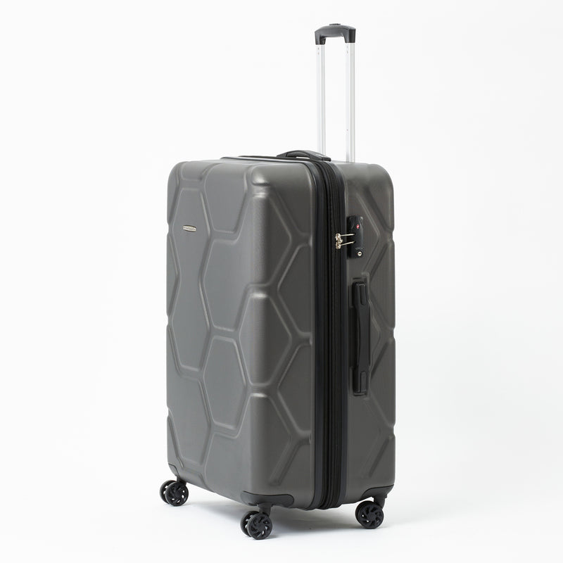 SS555A Moeraki Charcoal 76cm 4-Wheel Trolley Case