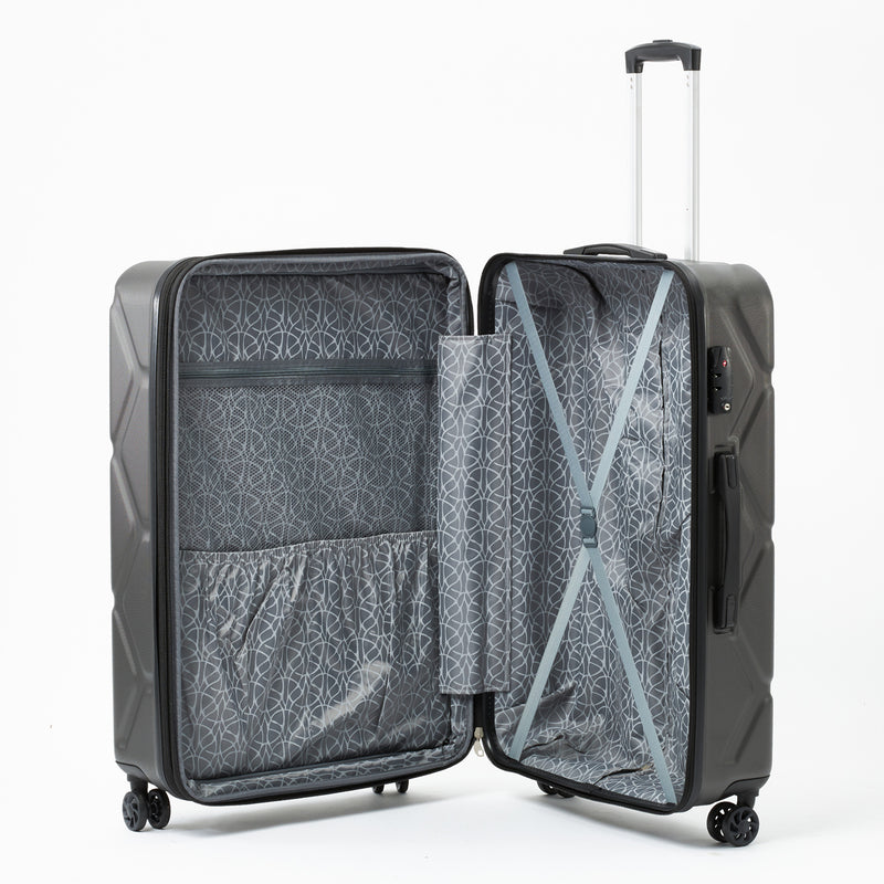 Moeraki Charcoal 76cm 4-Wheel Trolley Case